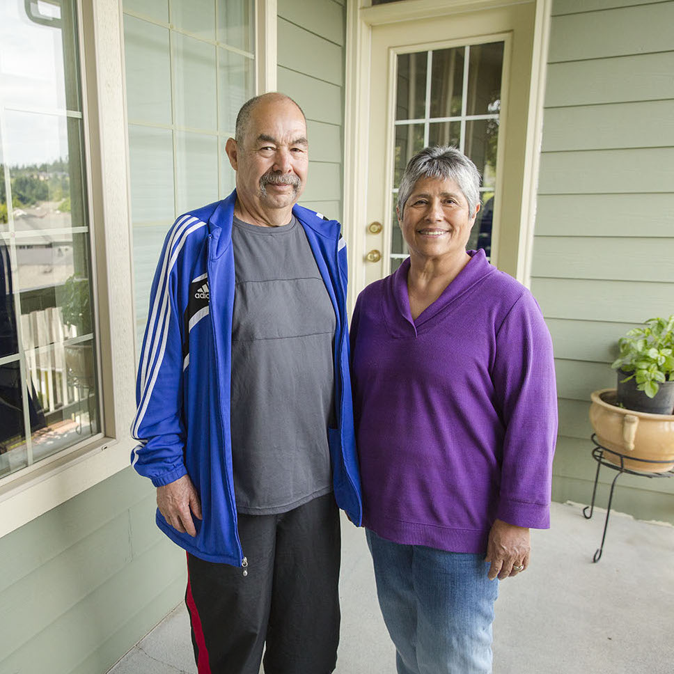 Homecare Workers, who are also married, smiling