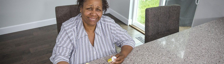 Homecare Worker checking medication